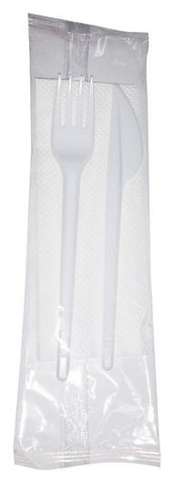 Набор одноразовой посуды №3 (Вилка/нож/салф.) 50шт/уп  NNB