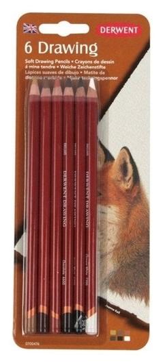 Карандаши цветные Derwent Drawing 6цв в блистере, 700476  Derwent