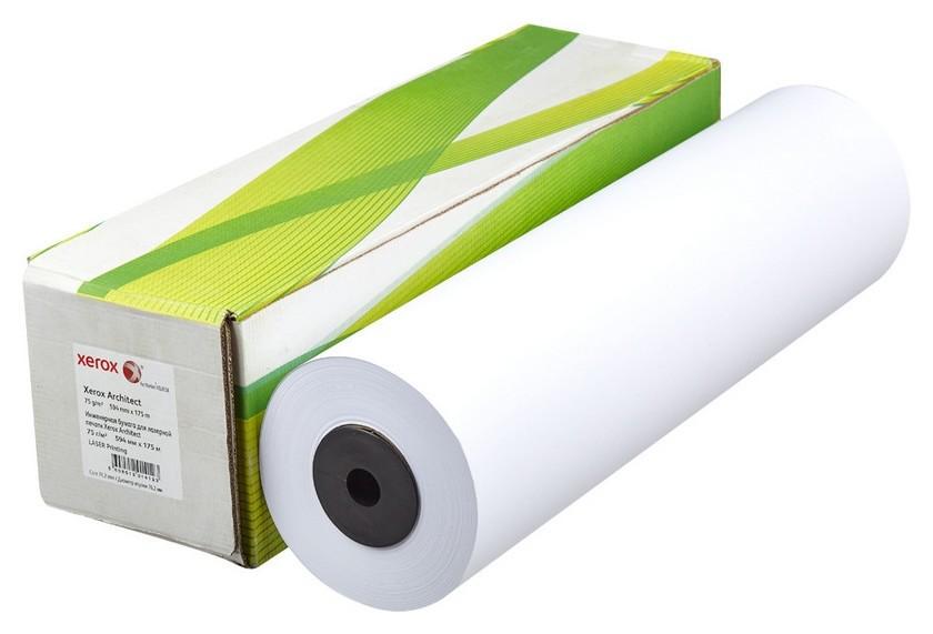 Бумага широкоформатная Xerox Architect 75г 594ммх175м 76мм  Xerox