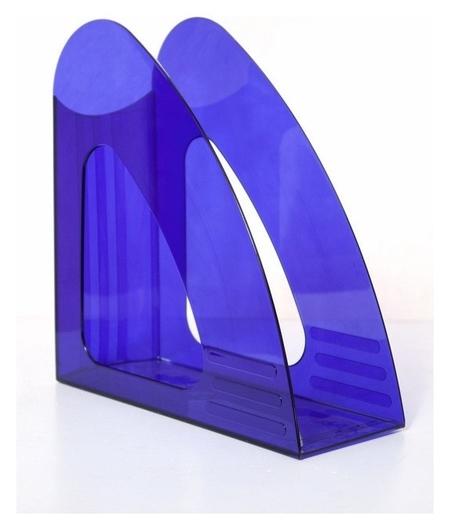 Вертикальный накопитель Attache 90мм прозрачный синий  Attache