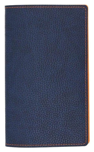 Визитница настольная а5,96виз,гибкая,синяя,оранжев.простр. аттасне Bizon  Attache