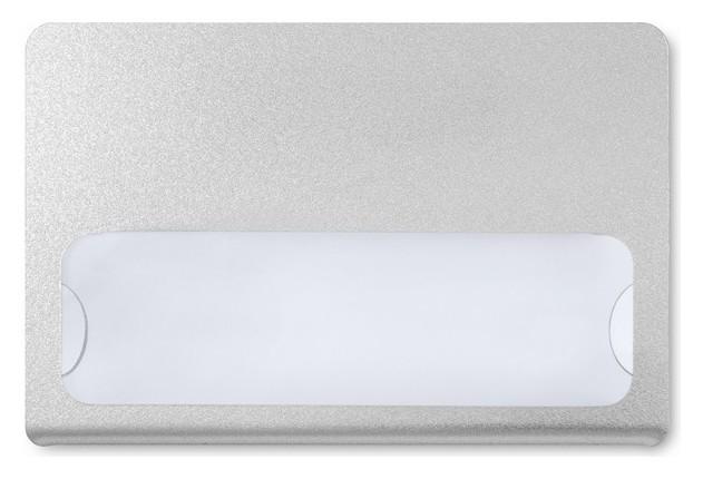 Бейдж с окном для сменной информации магнит,90x60мм с загибушкой, серебрист  NNB