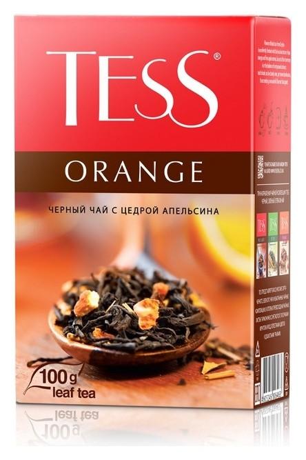 Чай Tess Orange листовой черный с добавками,100г 0646-15  Tess