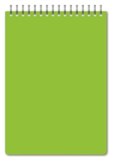 Блокнот а5,60л,кл,спир,пласт.обл,тонир.бл. Attache Bright Colours лайм  Attache