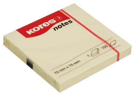 Блок-кубик Kores бум.для зам. 75х75 желтая 100л. ?46075  Kores