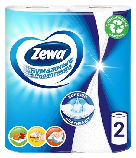 Полотенца бумажные Zewa 2-сл.,белые, 2 рул./уп.144001  Zewa