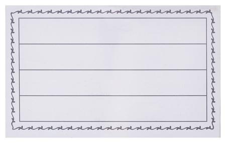 Бейдж 90х55мм Attache Economy металл зажим/булавка (50шт),18мкм  Attache