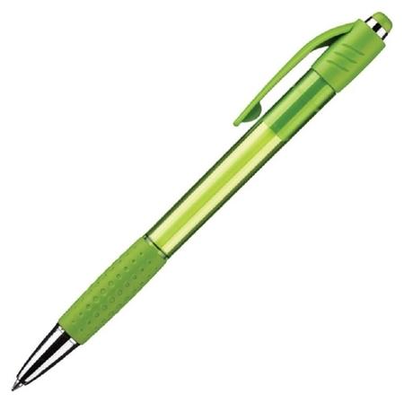 Ручка шариковая Attache Happy,зеленый корпус,цвет чернил-синий  Attache
