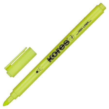 Маркер текстовыделитель Kores 0,5-3,5 мм скош.након.желт.36201  Kores