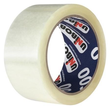 Клейкая лента упаковочная 48 мм х 132 м Unibob 600 (Прозрачная)  Unibob