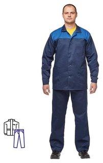 Спец.одежда летняя костюм муж. л16-кбр син/вас (Р.64-66) 170-176