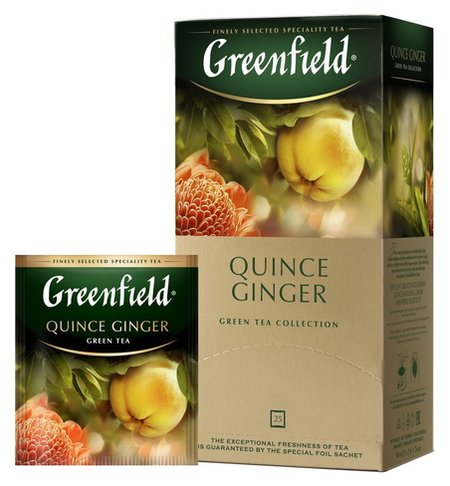 Чай Greenfield Quince Ginger зел, 25пак  Greenfield