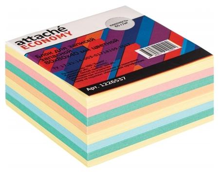 Блок для записей Attache Economy запасной 8х8х4, 5 цветов, 65 г  Attache