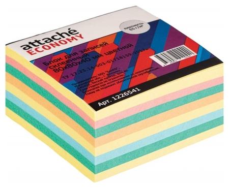 Блок для записей Attache Economy проклеенный 8х8х4, 5 цветов, 65 г  Attache