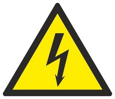 Знак безопасности W08 опасн.поражения эл.током(Плёнка,150х150) уп.10шт  Технотерра