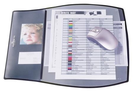 Коврик на стол Durable 39х44см черный 3-и раб.уровня с прозр.слоями 7209  Durable