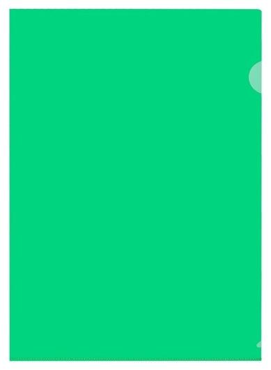 Папка уголок пу-001-пп 120мкр жест.пластик А4 зеленая прозр 20шт/уп  Attache