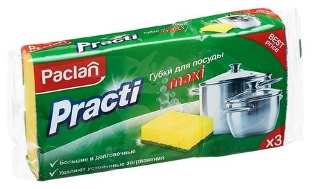Губки для мытья посуды 3шт/уп. Paclan  Paclan