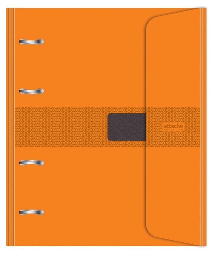 Бизнес-тетрадь со смен.блоком 120л,кл,а5, оранжевый,пропилен.обл.налипучке  Attache