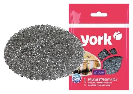 Губка York из нерж.стали мега 1шт/уп.  York