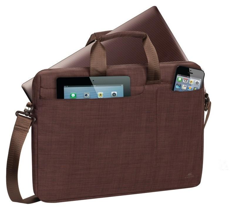 Сумка для ноутбука 15.6, Rivacase Biscayne, коричневая, 8335 Brown  RIVACASE