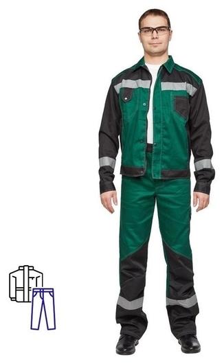 Спец.одежда летняя костюм мужской л21-кбр зелен/черн.(Р.64-66) 170-176  NNB