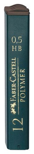 Стержень микрографический 0,5 Faber-castell Polymer (12 грифелей),521500  Faber-castell