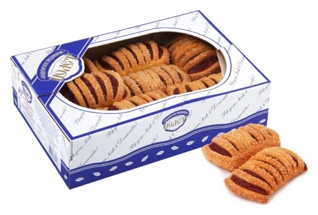 Печенье полет слоеный десерт штрудлики с малиной  Полет