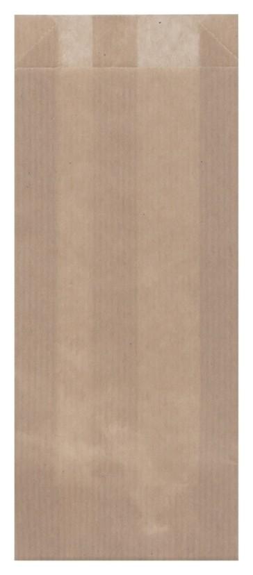Пакет бумажный 200x80x20 мм, крафт, коричневый, 2000 шт/уп  Aviora