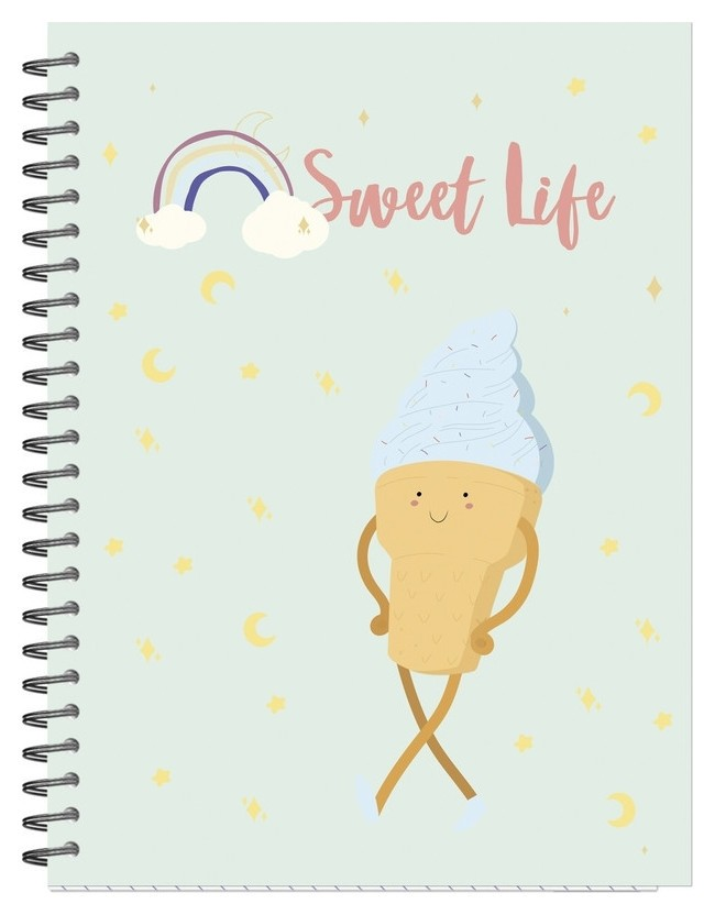 Бизнес-тетрадь а5,96л,кл,гр,мат.лам. Attache Selection Sweet Life мороженое  Attache