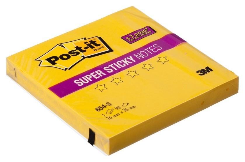 Блок-кубик Post-it Super Sticky 654-s 76х76 желтый,90л  Post-it