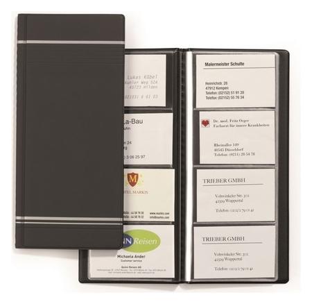 Визитница настольная на 96 виз. Durable Visifix 8581-58 антрацит германия  Durable