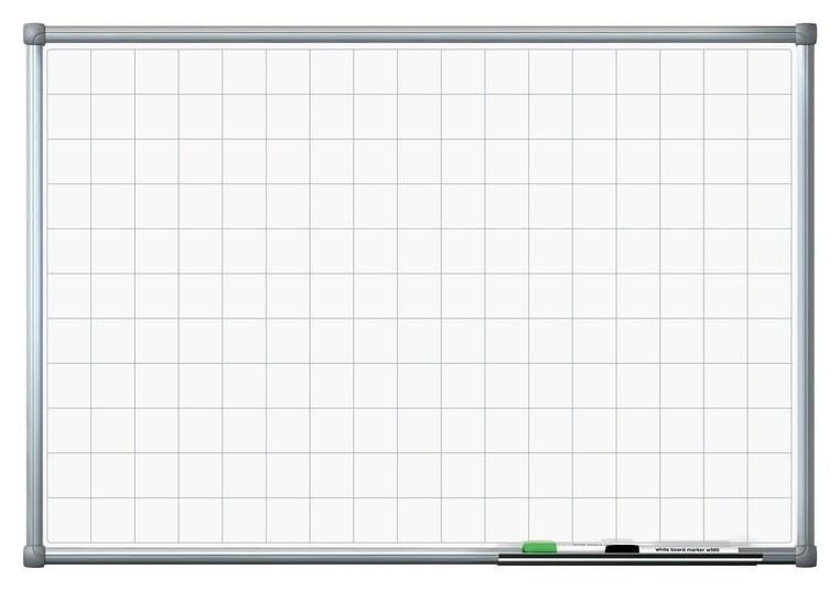 Доска магнитно-маркерная доска с линовкой клетка 60х90 лак  Attache