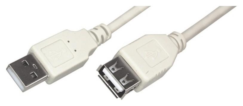 Кабель USB 2.0 Am/af, 1.8 м, Rexant, сер, 18-1114  Rexant
