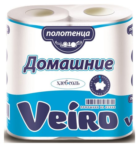 Полотенца бумажные Veiro домашние 2-сл., с тиснением, 2рул./уп. 3п22  Veiro professional