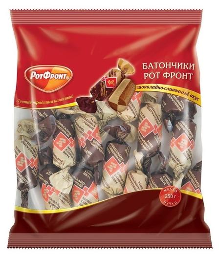 Конфеты батончики шоколадно-сливочный вкус 250г  РотФронт