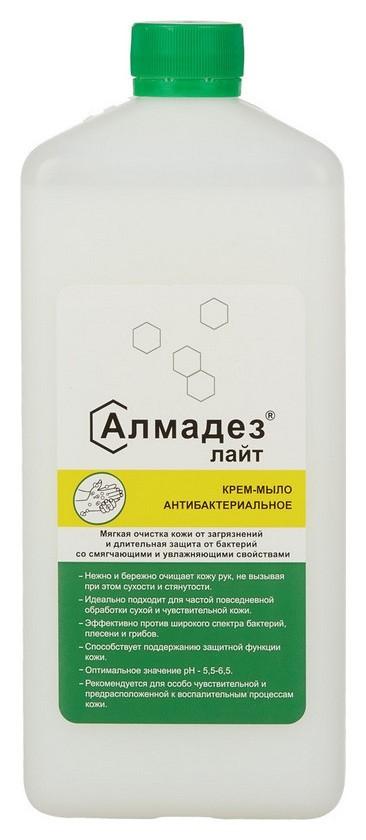 Дезинфицирующее мыло алмадез-лайт антибактериальное 1,0 л(С дозатором)  Алмадез