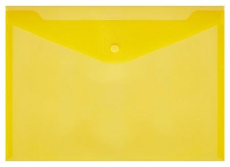 Папка-конверт на кнопке КНК 180 желтый прз. 10шт/уп  Attache