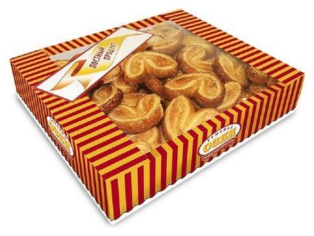 Печенье слоеные семейка озби мини плюшки с сахаром, 500г  Семейка Озби