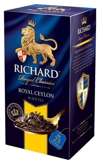 Чай Richard Royal Ceylon черный, 25 пак  Richard