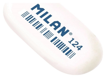 Ластик каучук Milan 124, 3 штуки в блистере (Bmm9203)  Milan