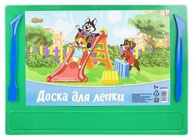 Доска для лепки №1school шустрики А4 с 2-я стеками, цвет.  №1 School