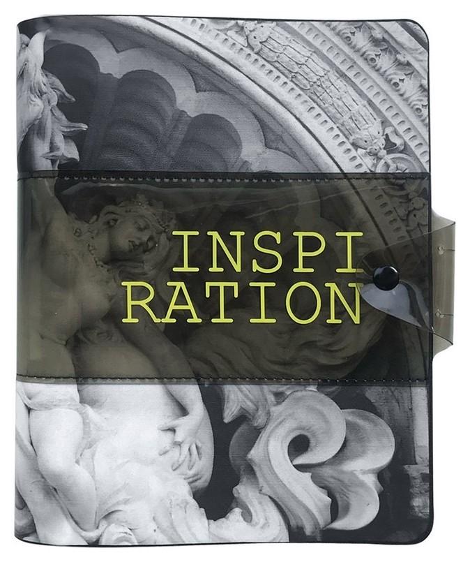 Бизнес-тетрадь Infolio А5 120л, клетка, кольца, кож.зам. Inspiration N1811  InFolio