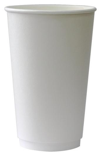 Стакан одноразовый бум 2-сл. D-90мм 400мл белый комус Dw16 (18шт/уп)  Комус