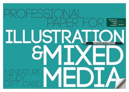 Бумага для иллюстраций а3,10л,блок 180гр, в папке 4-126  Bruno Visconti