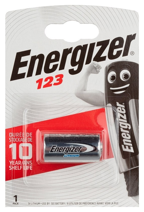 Батарейки Energizer Lithium Photo 123 бл/1шт  Energizer