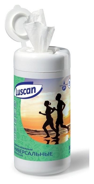 Салфетки влажные Luscan универсальные освежающие в банке 80 шт/уп  Luscan