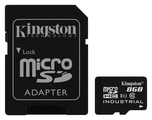 Карта памяти Kingston Industrial Temperature Microsdhc Uhs-i +ад, Sdcit/8gb  Kingston