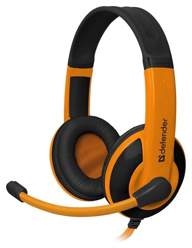 Гарнитура игровая Defender Warhead G-120, проводная, 2 м, оранжево-черный  Defender