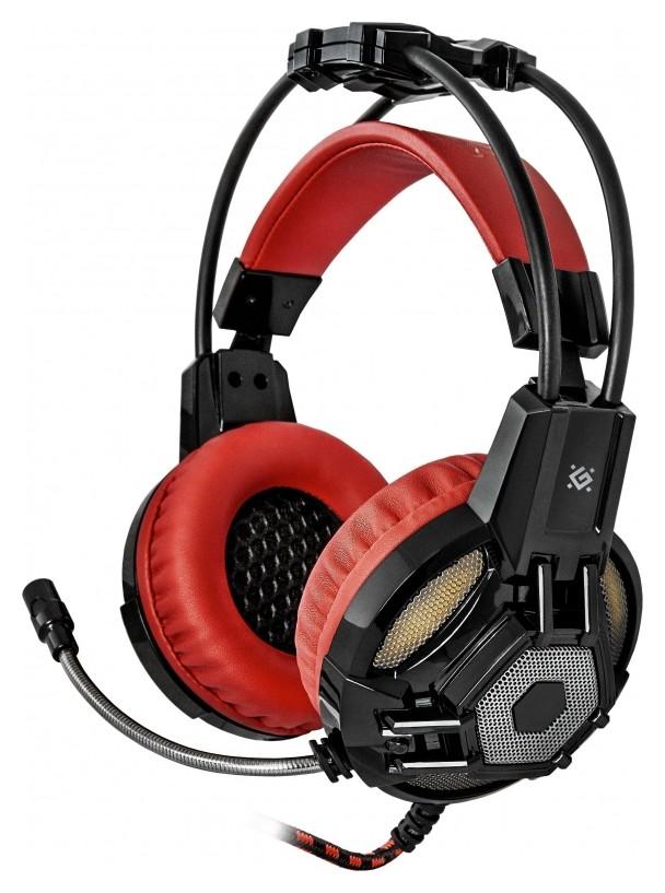 Гарнитура игровая Defender Lester, проводная, 2,2 м, черно-красная  Defender